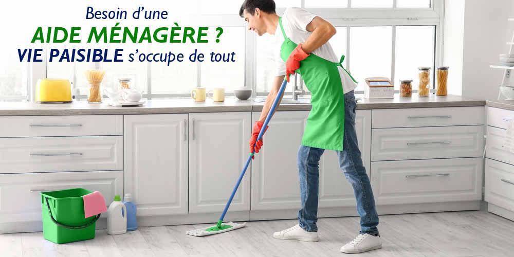 Aide ménagère à domicile ? Vie Paisible s'occupe de tout...